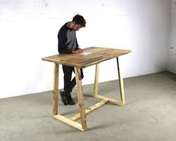 timber office desk. Reclaimed Timber Standing Office Desk, With A Frame Legs, All Wood Table For The Working Environment, - Kent | Timber, Desk