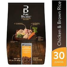 Dog Food Rating Chart 2013 Pure Balance Chicken Brown Rice Recipe Dry Dog Food 30 Lb