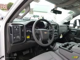 Jet Black/Dark Ash Interior 2015 Chevrolet Silverado 3500HD WT ...