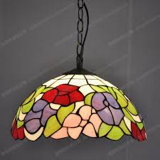 High Quality Professional Manufacturer Of Tiffany Lamps 30CM American Pastoral  Chandelier Lighting Stained Glass Lamps Kitchen Restaurant Nice Look