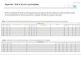 Project Management Project Management Record Template Risk