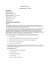 Visual Merchandising Job Description For Resume Visual Merchandiser Job Description Template Ideas Collection 1