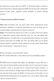 Redd Röportajı. Yayin Yeri;- Bilgi Universitesi Erasmus Kulubu Resmi Sitesi  - Anatolianrock.com - PDF Ücretsiz indirin