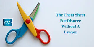 quick guide to a divorce without a lawyer the cheat sheet you need