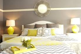 gray yellow bedroom yellow beside lamps bring symmetry to the room design interiors yellow gray and