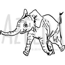 Baby Elephant Template A5 Baby Elephant Wall Stencil Template Ws00023228 Ebay