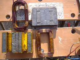 building an arc welder from microwave oven transformers products the 2 coils and core kapton taped ready for assembly