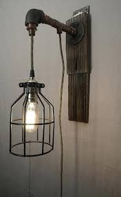 cage light steampunk cage copper pipe wall sconce light wire cage