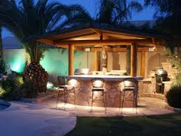 home patio bar. Outdoor Patio Bar With LED Lights : Useful Home H
