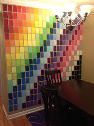 sample colorfull art wall paint design diagonal pattern color unique extraordinary awesome simple square