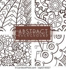 Intricate Patterns Gorgeous Set Of Four Vector Intricate Patterns Doodle Zentangle Or