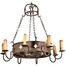 restoration hardware wood chandelier circa round antique iron from 1 bead