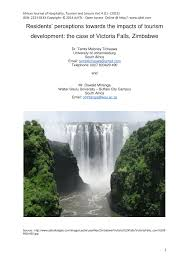 pdf residents perceptions towards the impacts of tourism development the case of victoria falls zimbabwe