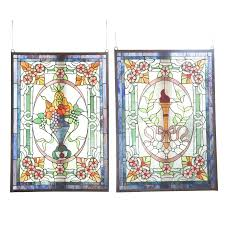 stain glass hanging stained glass hanging panels stained glass panel hanging hardware