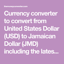 Jamaican Currency Chart Currency Converter To Convert From United States Dollar Usd