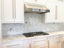 carrara marble backsplash. Delighful Backsplash Carrara Marble White Herringbone Backsplash6 Throughout Carrara Marble Backsplash 1