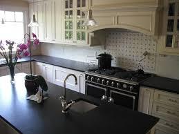 medium 728x546 pixels large vintage kitchen design with black honed granite countertops