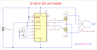 Inverter Circuit Design Using Mosfet 12 Volt To 220 Volt Inverter