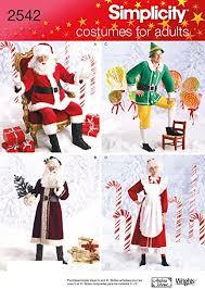 Simplicity 2542 Santa, Elf and Mrs. Santa Sewing <b>Pattern</b> for Adults