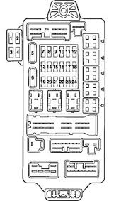 mitsubishi endeavor to idling speed and stalled gas pedal fuel pump 2004 Mitsubishi Endeavor Fuse Box okay here is a diagram of the in dash fuse box 2004 mitsubishi endeavor fuse box diagram