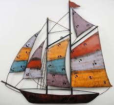 wall art design ideas incredible metal boat wall art on yacht metal wall art with boat wall art elitflat