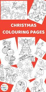 Childrens Christmas Colouring Pages Montessori Christmas