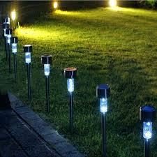 full image for solar powered dip lawn light plastic outdoor yard garden wall lobby pathway lamp