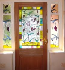 leaf motifs stained glass designs for doors