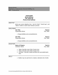 Simple Resume Format Pdf For Freshers Resume Examples