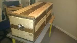 wooden trunk hardware hand crafted solid timber waxed wooden blanket box ottoman storage trunk chest chrome