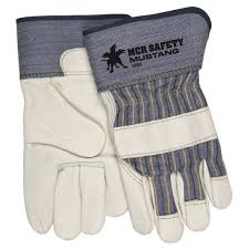more views mcr mustang grain leather palm work gloves