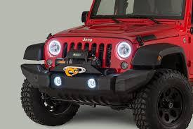 oracle lighting headlight kit with halo rings for 07 18 jeep wrangler jk quadratec