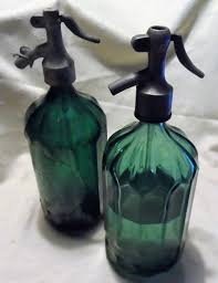 Decorative Spray Bottle Two Green Decorative Spray Bottles From France Mid 100th Century 82