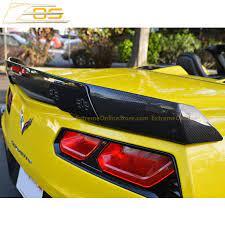 Corvette C7 Carbon Fiber Stage 3 Rear Spoiler W Wickerbill Extension Extremeonlinestore Corvette C7 Carbon Fiber Corvette