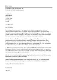 cover letter examples it manager account development manager cover letter