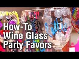 threadbanger party how to make personalized wine glass party favors you