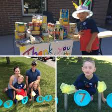 Following in the steps of his sister Hilary, Lucas celebrated his 7th  Birthday with a car parade and incredible comm… in 2020 | Food donation,  7th birthday, The incredibles
