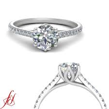 1 Carat Diamond Ring Designs Details About 1 Carat Round Diamond Claw Prong Flower Basket Design Engagement Ring Flawless
