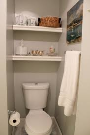 Bathroom Storage Inspiring Built In Bathroom Shelving Over Toilet ...