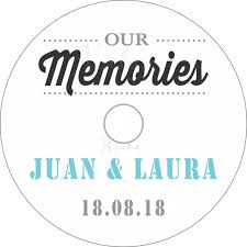 Wedding Cd Labels 50 Cd Labels With Customized Personalized Printing For Wedding Cd
