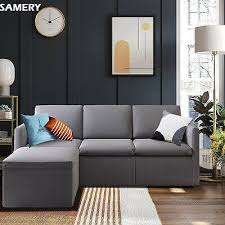 samery convertible sectional sofa couch