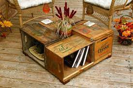 crate table wine crate coffee table
