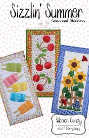 Ribbon Candy Quilt Company: Seasonal Skinnies Patterns & I'll warn you now, you can't just make one. Adamdwight.com
