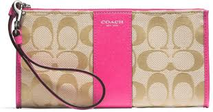 Lyst - Coach Boxed Legacy Zippy Wallet in Signature Fabric in Pink