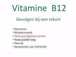 Klachten vitamine b12 te kort