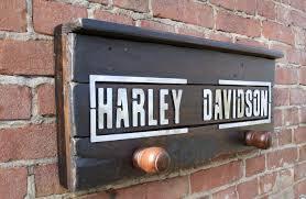 Harley Davidson Coat Rack Impressive Harley Davidson Vintage Coat Hanger Wood Iron C 32 Catawiki