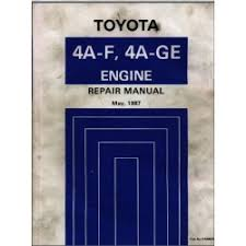 Toyota 4A-F, 4A-GE Engine Repair Manual