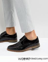 60 off asos wide fit brogue shoes in black polish leather black asos shoes