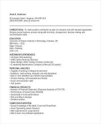 BBA Graduate Fresher Resume Template