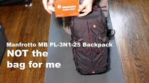 Kata Pro Light Pl 3n1 25 Camera Bag Review Manfrotto Mb Pl 3n1 25 Backpack Black